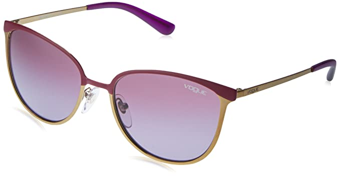 VOGUE Womens Metal Woman Sunglass Oval, MATTE LT VIOLET/BRUSHED 54.5 mm