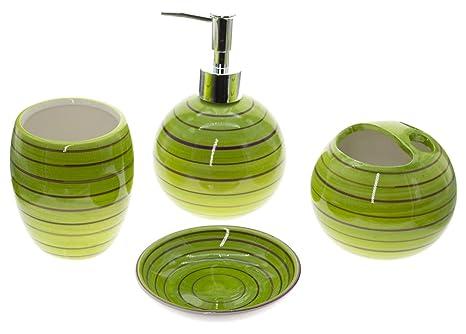 Set accessori bagno unità portaspazzolino dispenser sapone