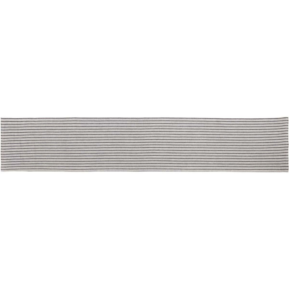 6845fbdf5 13x72 33339 Accessories VHC Brands Farmhouse Tabletop & Kitchen-Classic  Stripe Black Runner