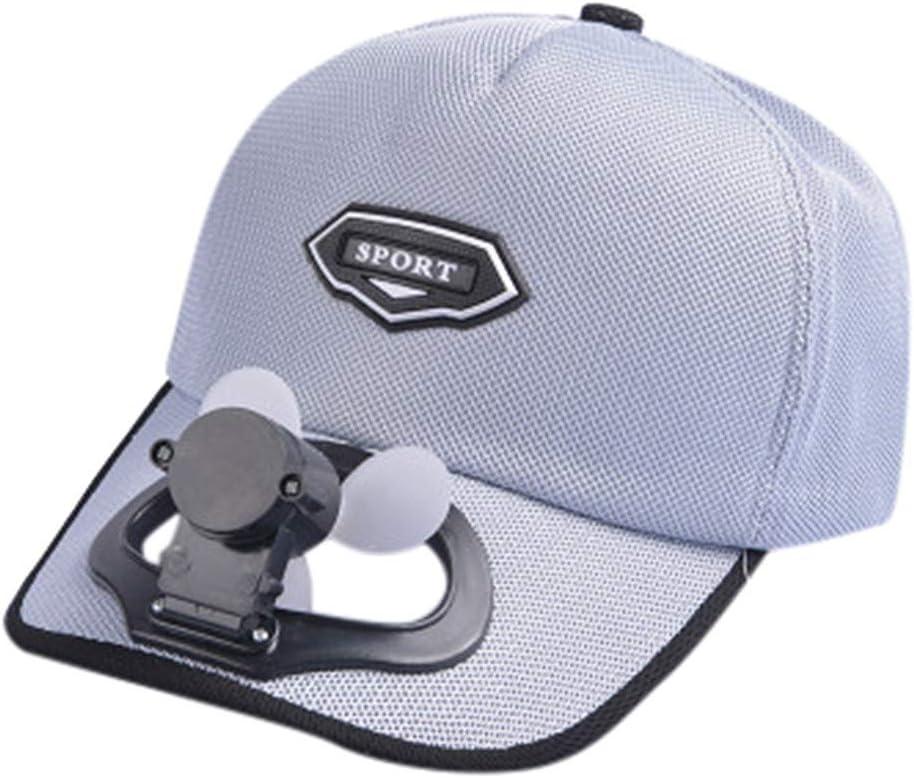 FBGood - Gorra con Ventilador, para Acampada, Unisex, Senderismo, béisbol: Amazon.es: Hogar