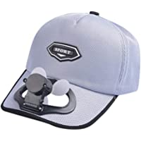 FBGood - Gorra con Ventilador, para Acampada, Unisex