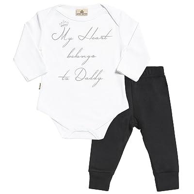 Heart Belongs To Daddy bébé Set - bébé body & bébé Pantalon - bébé body & bébé Pantalon cadeaux Ensembles