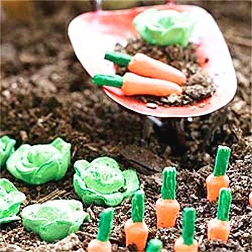 New Miniature Mini Dollhouse FAIRY GARDEN Accessories - Cabbage Patch Veggies 4 of Each - Supplies Acces.