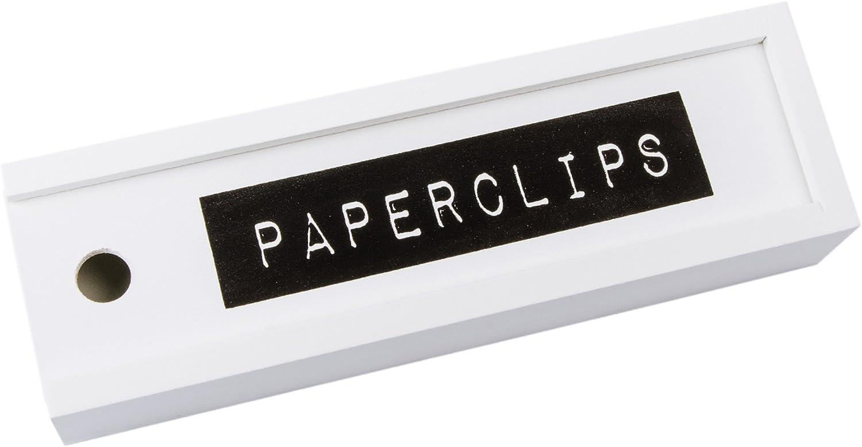 Kersten Clips – , Caja de Almacenamiento para Clips, Caja de MDF con Tapa Deslizante, 6,5 x 21 cm: Amazon.es: Hogar