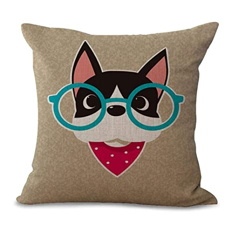 DHNKW Retro Animal Avatar Pillow Covers Comfortable Cushion ...