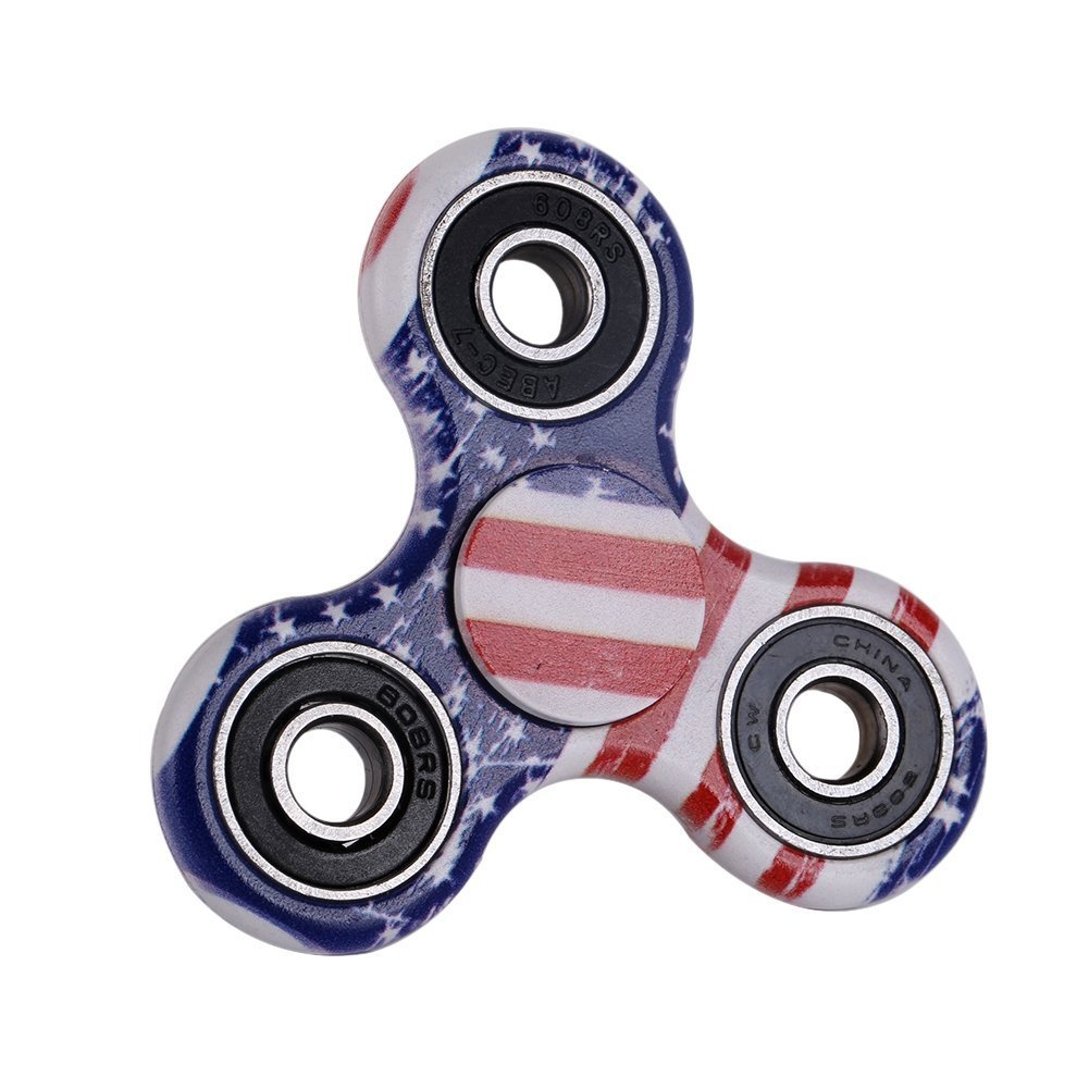 Toys & Hobbies Trend Mark Usa Patriotic Stress Reducer With Ceramic Bearing Fidget Spinner Games