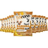 Organic Peanut Butter Chewy Banana Bites, - Delicious Barnana Coated Potassium Rich Banana Snacks - Lunch Dinner Sports Hikin
