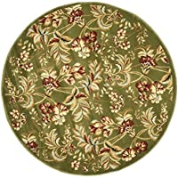 Safavieh Lyndhurst Collection LNH326B Traditional Floral Sage Round Area Rug (8 Diameter)