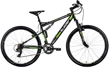 KS Cycling Fully Slyder - Bicicleta de montaña, color negro y ...