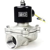 "BACOENG AC220V 1"" válvula de solenoide eléctrica Acero"