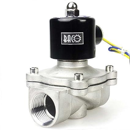 Bacoeng Ac 220v 1 Elettrico Elettrovalvola Acciaio Inossidabile Solenoid Valve Per Acqua Aria Olio Nc