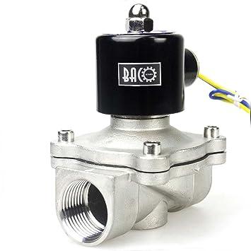 """1/"""" Edelstahl NC BACOENG AC230V 1/"""" Edelstahl Elektrisches Magnetventil Wasser"""