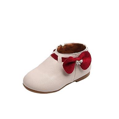ZODOF Zapatillas de Deporte de la Zapatilla de Deporte del Bowknot de la Moda de los niños del bebé del niño pequeño Zapatos Zapatillas Respirable Mocasines ...