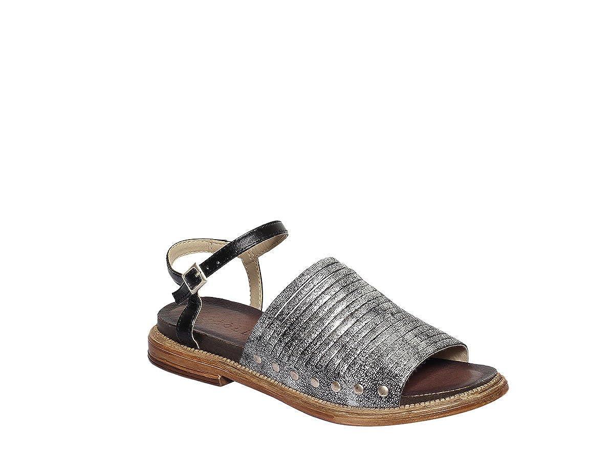 FABBRICA 2 DEI COLLI Sandale Frauen schwarzes Leder Absatz cm 2 FABBRICA Mod 1TATO102 - 790e79
