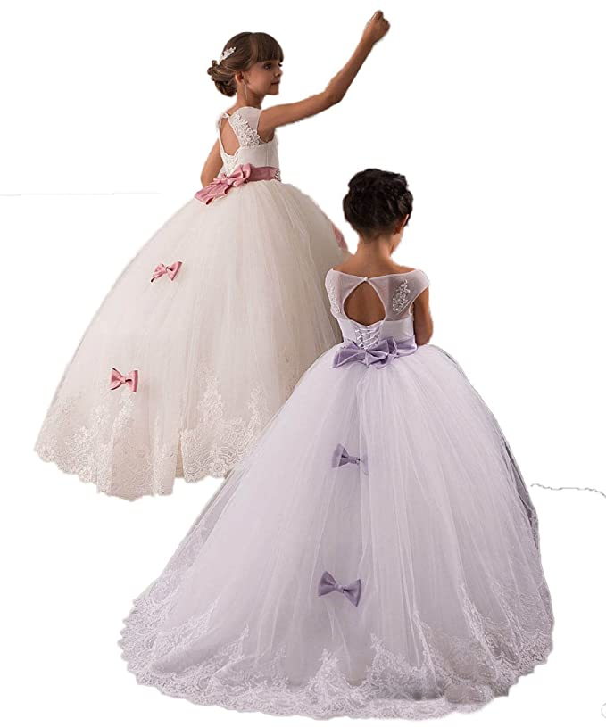 Amazon.com: CoCoGirls Cute Children Flower Girls Wedding Dresses ...