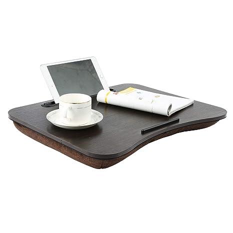Molsha - Bandeja de Madera para Ordenador portátil, Mesa de Desayuno, Ajustable, para