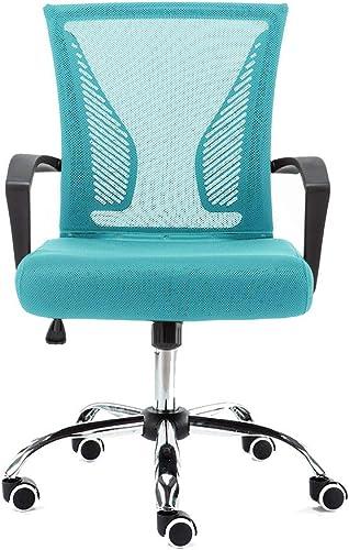 Modern Home Zuna Mid-Back Office Chair – Black Aqua