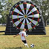 ANNATTO Outdoor Inflatable Soccer Darts Board with 6pcs Inflatable Ball for Sports Game (15×15 FT)