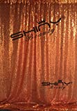 ShinyBeauty Orange Draping Sequin Fabric Backdrop 120'' x 120'', Handmake Sequin Fabric, Sequin Background-10FTx20FT