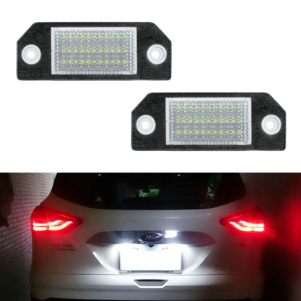 Powered by 18SMD Xenon White LED Lights GemPro LED License Plate Light Assembly Replacement For 2009-2018 Chevrolet Cruze