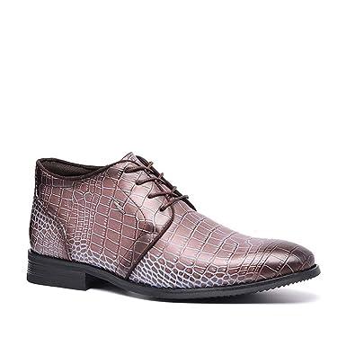WMZQW Botas de Terciopelo para Hombre Zapatos de Cuero Negocios ...