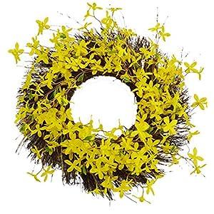 Darice Wreath Forsythia Yellow 55