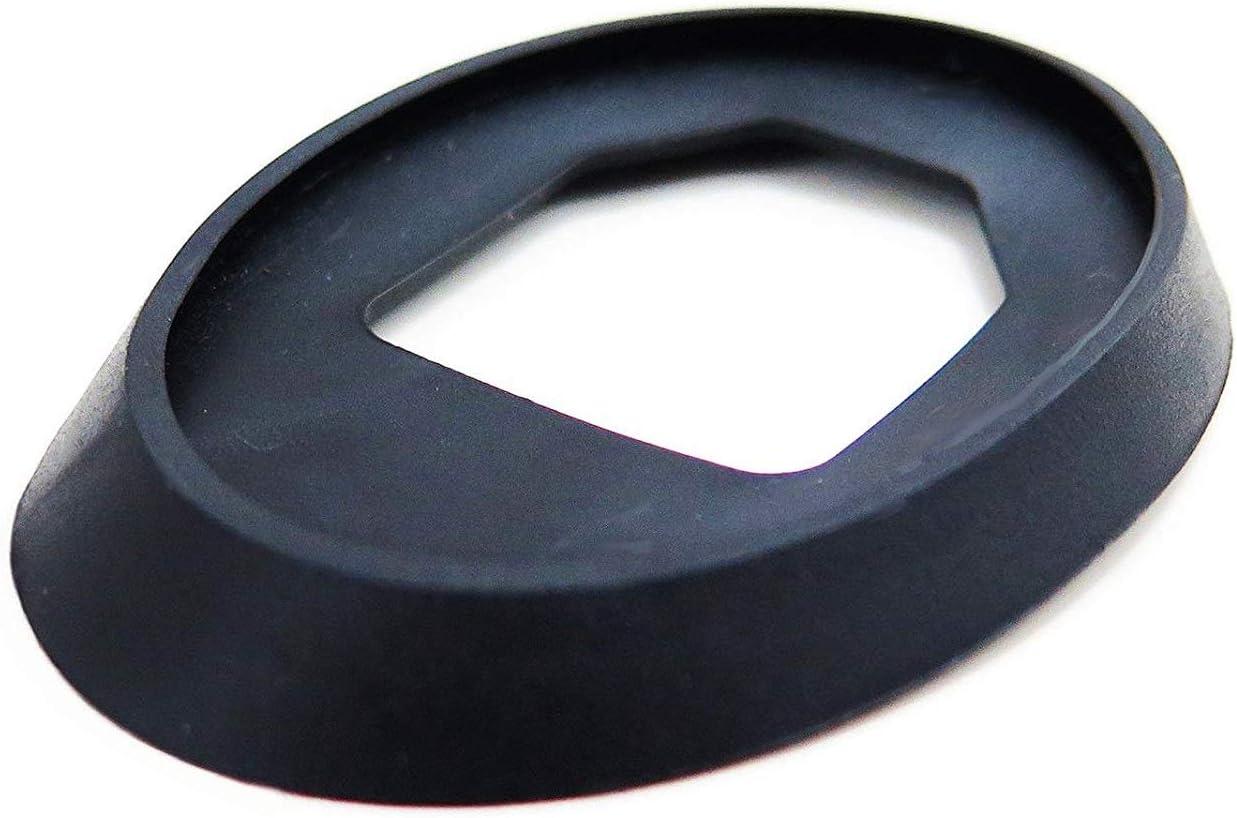 AutoCommerse - Junta de goma para antena de techo, color negro