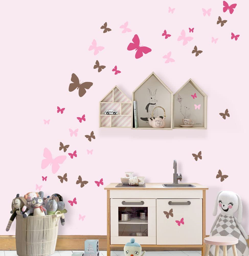 3d Butterfly Wall Decor For Bedroom Aesthetic Wall Decor For Bedroom Teen Girl Removable Wall Stickers For Home Decoration Girls Room Bedroom Living Room Playroom Birthday Gift 3 Size 3 Color Wall
