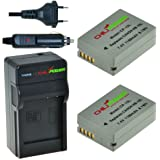 ChiliPower NB-10L Kit: 2x Akku + Ladegerät für Canon Powershot G1 X, G1X G15, G16, SX40 HS, SX50 HS, SX40HS, SX50HS, CB-2LC