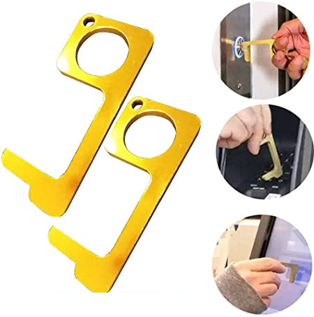 5pc Touch Free EDC Door Opener Handle Key Portable Hygiene Hand Anti Microbial