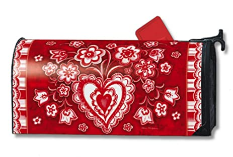 Amazon.com: MailWraps Folk Valentine Mailbox Cover #02628: Home ...