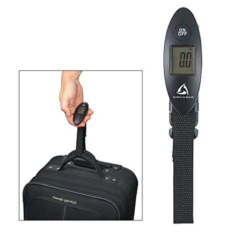 Digital Luggage Scale With 99 Lb Capacity Backlit LCD Display Shows Pounds And Kilograms Plus An