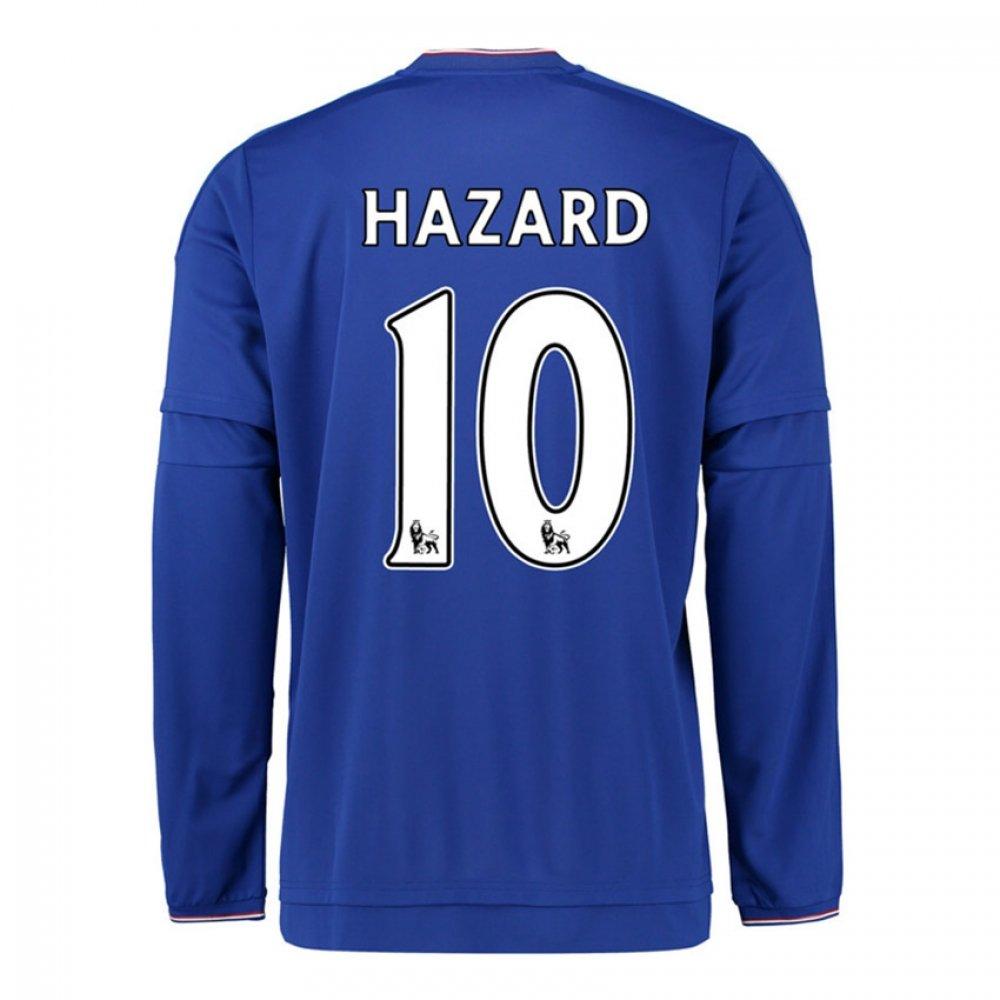 2015-2016 Chelsea Home Long Sleeve Football Soccer T-Shirt Trikot (Eden Hazard 10)