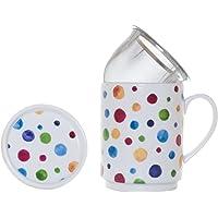 La Cija Dots Tisana de Porcelana con Filtro