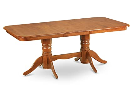 Amazon east west furniture nat sbr tp rectangular round corner east west furniture nat sbr tp rectangular round corner dining table with 18 watchthetrailerfo