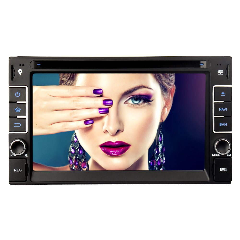 "6 2"" Doppel Din Autoradio DVD Player GPS Amazon puter"
