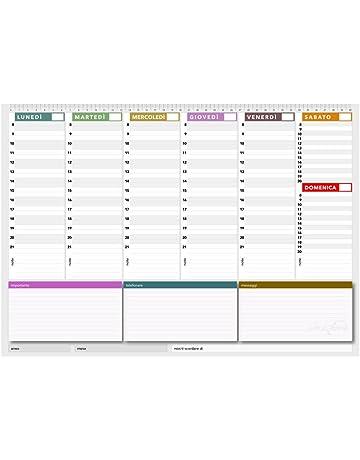 Calendario Appunti Da Stampare.Amazon It Calendari E Articoli Da Scrivania Cancelleria E