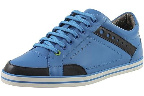 Amazon Com Hugo Boss Men S Sneakers Apache League Medium Blue Shoes