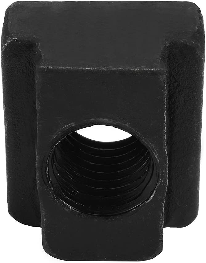 Aexit M18 Steel Nuts T-Slot Nut Black Oxide Plated Grade 8.8 T-Slot Nuts Tapped Through