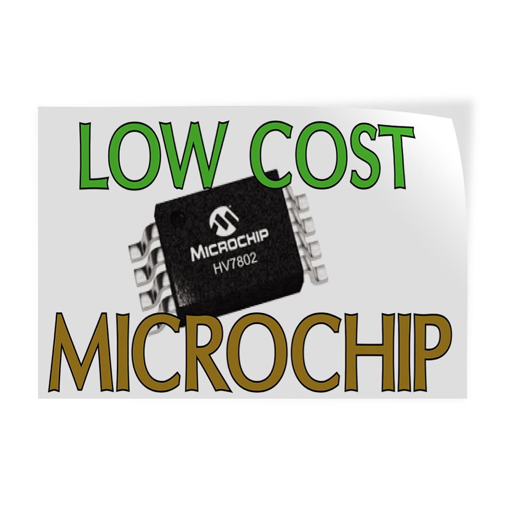 Amazon com low cost microchip indoor store sign vinyl decal sticker 14 5inx36in office products