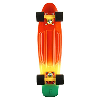 """Penny Holiday Injection Complete Skateboard, Red Down, 22"""" : Sports & Outdoors"""
