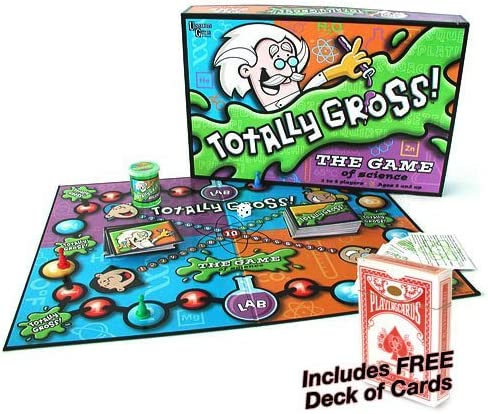 Totally Gross Game: The Game of Science w/Free Deck of Standard Playing Cards by University Games: Amazon.es: Juguetes y juegos
