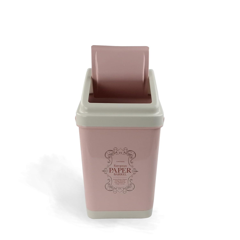 Amazon.com: Nicesh 3 Gallon Trash Can, 12 L, Plastic Lid (pink ...