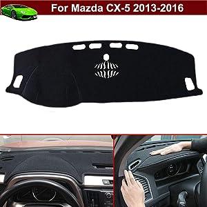 New 1pcs Black Non-Slip Dash Mat Dashboard Mat Dash Carpet Dash Covers Dashboard Cover Custom Fit for Mazda CX-5 2013 2014 2015 2016