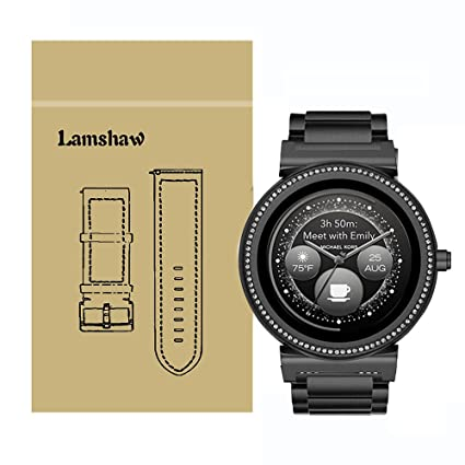 Lamshaw Quick Release Smartwatch Band for Michael Kors Access Sofie, Stainless Steel Metal Replacement Straps for MK Access Smartwatch Sofie Gen 2 ...