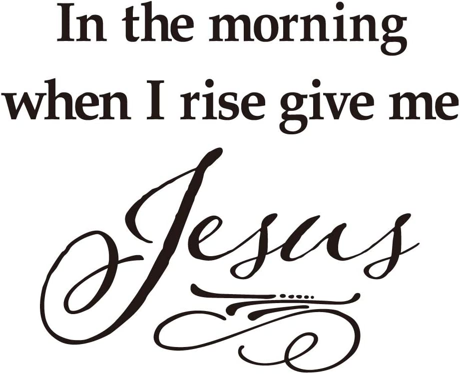 KYSUN in The Morning When I Rise give me Jesus Vinyl Wall Decal Christian Quotes Religious Art Letters Décor