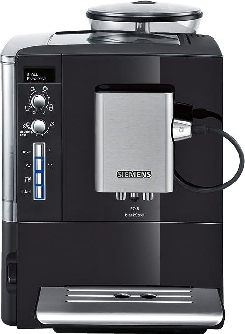 Siemens TE506519DE EQ.5 blackSteel - Cafetera automática, 1600 W ...