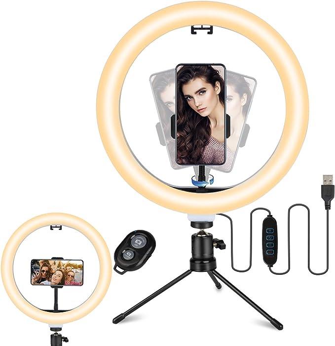Anillo de luz LED para selfie por 11€ (-46% desc)