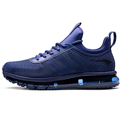 55b9a4abda ONEMIX Men's Air Cushion Sports Running Shoes Walking Casual Sneaker Blue  6.5 US 1191 ZLSL 39