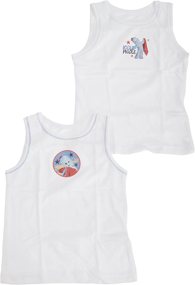 Pack of 2 In the Night Garden Childrens Boys Official Cotton Vests